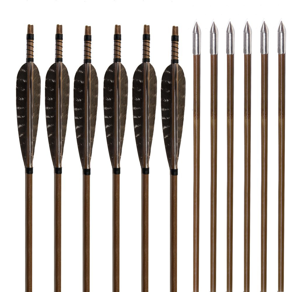 Huntingdoor Traditional Bamboo Fletching Arrows (Nature)