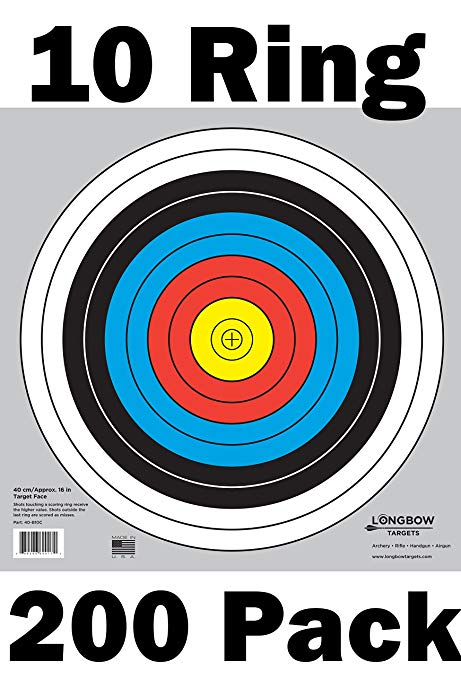 Archery 40cm and 80cm Targets by Longbow