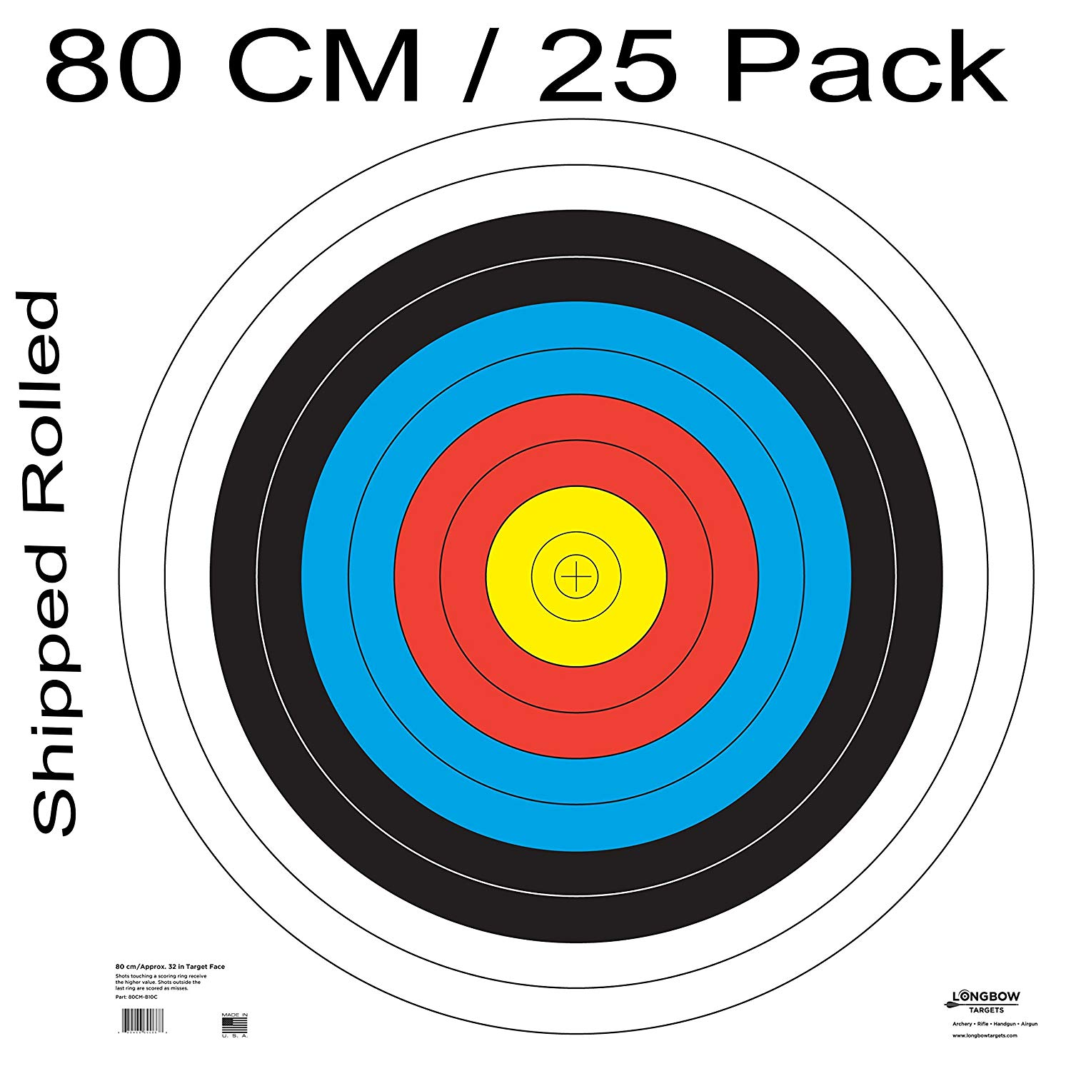 Archery 40cm and 80cm Longbow Targets by Longbow