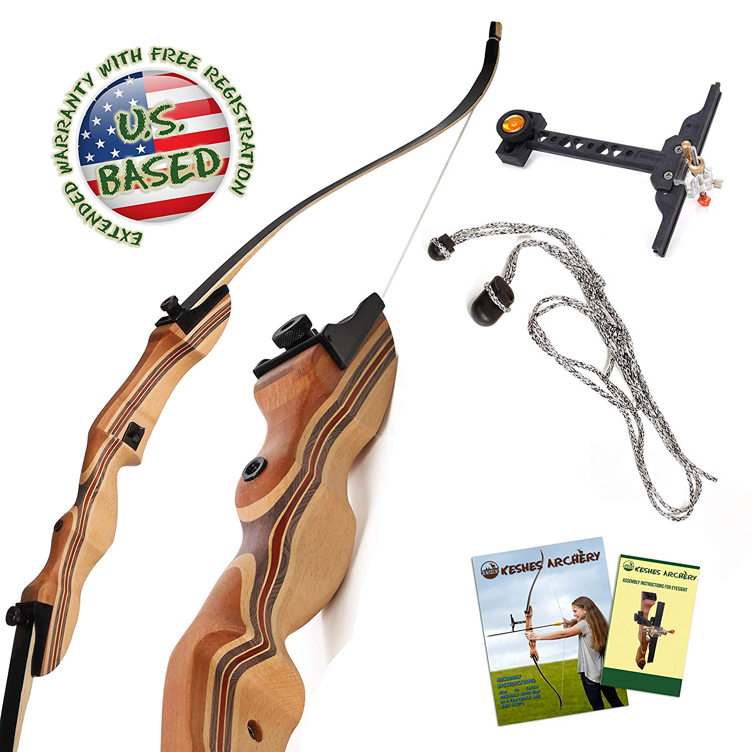 KESHES 62 inches Recurve bow