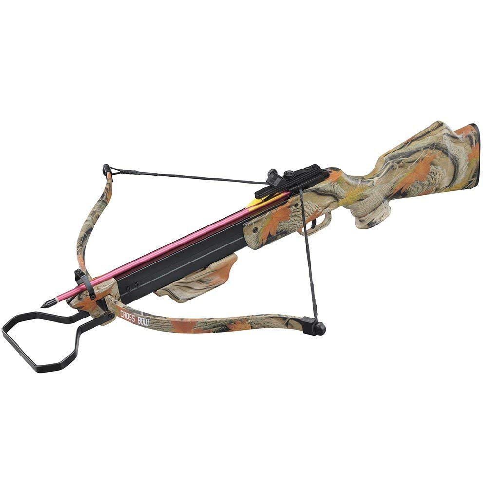 130lbs Camo Hunting Crossbow with 4x20 Scope