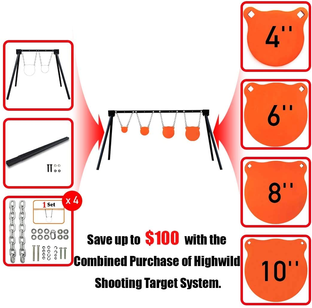 Highwild Steel Target Stand AR500 Shooting Target System with Complete Kit Combination (4)